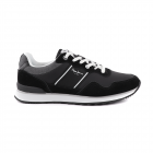 Pantofi sport b rba i Pepe Jeans negri din piele intoars 3191BPS30702V