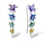 Cercei argint floare Provence