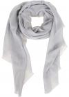 Sparkling Cashmere Silk Wool Scarf In White MSCDAR097C2642