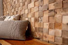 Panouri decorative din lemn reciclat Reclaimed Cube 7 pl ci 21 5x50 5c