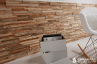 Panouri decorative din lemn reciclat Reclaimed Stripes 7 pl ci 21 5x50
