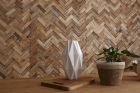 Panouri decorative din lemn reciclat Reclaimed Herringbone 8 pl ci 21