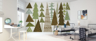 Fototapet Forest Folklore Green Trees personalizat Photowall