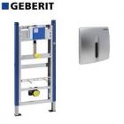 Set cadru pisoar Geberit Duofix H130 cm cu senzor si clapeta crom mat
