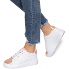 Pantofi sport dama Kesha Alb Roz