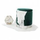 SCAG603 Scaun tapitat masa toaleta taburet machiaj Argintiu Verde