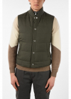 Sleeveless Down Jacket with Button and Zip Closure