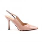 Pantofi slingback stiletto femei Benvenuti roz cu toc inalt 1201DD2354