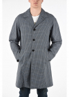 Lined Mini Check Trench with Flush Pockets