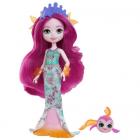 Papusa Enchantimals by Mattel Maura Mermaid cu Figurina Glide