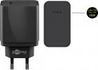 Incarcator de retea USB C Goobay incarcare rapida PD 18W negru