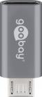 Adaptor USB C la micro USB 2 0 Tip B gri Goobay