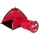 Cort cu Tunel pentru Copii Ladybug Rosu