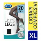Scholl Ciorapi compresivi Light legs 20 Den Negru XL