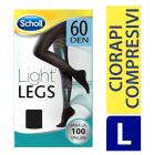 Scholl Ciorapi compresivi Light legs 60 Den Negru L