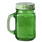 Halba tip borcan verde plus capac perforat 400 ml