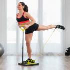 Platform de fitness cu ghid de exerci ii pentru mu chii fesieri i pici