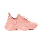 Pantofi sport femei TheZeus roz din material knitted 3761DPS905172RO