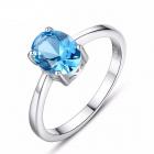 Inel AG 925 piatra albastra Melody