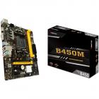 BIOSTAR Main Board Desktop B450 AM4 2xDDR4 VGA HDMI 1xPCIe x16 2xPCIe