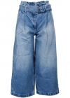 Cropped Culotte Jeans In Blue MH09CUFFAU466