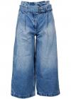 Cropped Culotte Jeans In Blue MH09CUFFAU466