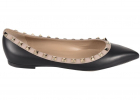 Rockstud Pointed Flats In Black VW2S0403VODN91