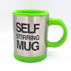 Self stirring mug cana cu amestecare verde