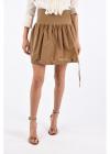 Bubble Mini Skirt with Drawstring