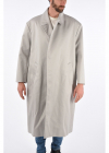 One Button Maxi Coat with Wrap Closure