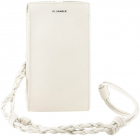 Woven Strap Leather Phone Case In White JSPS840098WSS69149N108