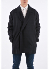 Check Virgin Wool Peaked Lapel Trench