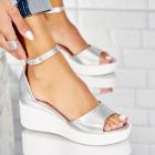 Sandale Piele Ecologica Argintii Sunny X4504