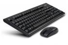 Kit wireless mouse si tastatura USB negru 3100N A4Tech