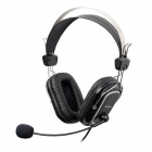 Casti cu microfon A4Tech HS 50 control pe fir negru