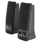 Boxe multimedia 2 0 3 5mm silver negru 2x2W SB150 NGS