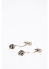 Earrings with Skull Pendant