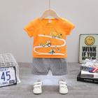 Costum bebelusi cu tricou portocaliu Cars