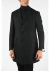plain herringbone 3 button coat