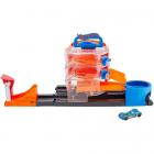 Pista de Masini Hot Wheels by Mattel City Spin Dealership cu 1 Masinut