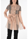 Tulle Double Breasted Trench with Belt