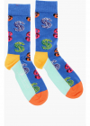 ANDY WARHOL Stretch Cotton Socks with Embroidered Dollar