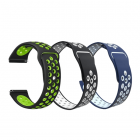 Set 3 curele universale sport din silicon 22mm compatibile cu Amazfit