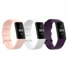 Set 3 curele sport pentru bratara fitness Fitbit Charge 4 3 3E din sil