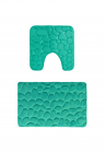 Set 2 covorase baie memory foam 100 poliester 50x80 cm si 50x48 cm