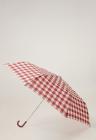 Umbrela pliabila in carouri Clara