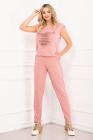 Trening dama Cleo roz din bumbac cu inima franjurata By InPuff
