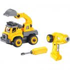 Set Constructie Camion Autobasculanta si Excavator cu Radiocomanda