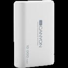 CANYON Power bank 10000mAh Li poly battery Input 5V 2 1A Output 5V 2 1