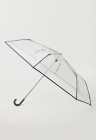 Umbrela pliabila cu aspect transparent